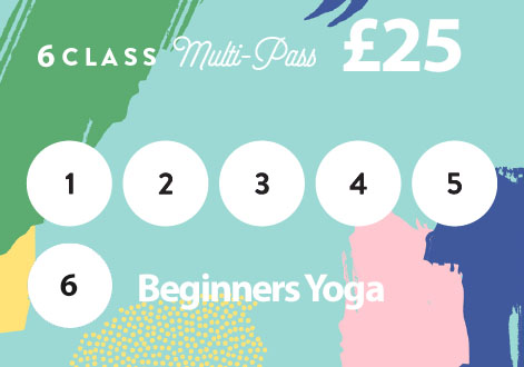 6 class pass for beginners yoga