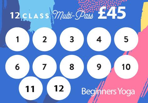 12 class pass beginners yoga
